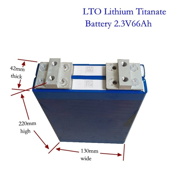 Литий титанат 66Ач прямоугольник