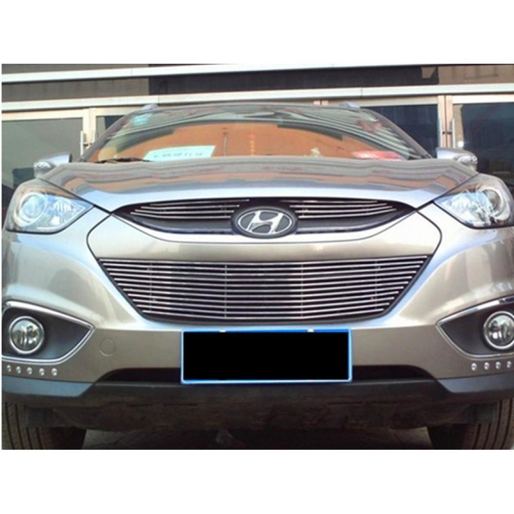 Защитная накладка на решетку радиатора Hyundai ix35 2009-15