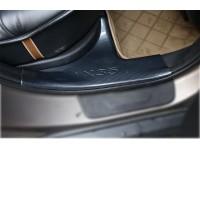 4 накладки на пороги карбон для Hyundai ix35 (2009-15)