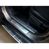 Накладки на пороги для Hyundai ix35 (2009-15)