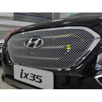 Защитная сетка-накладка на решетку радиатора Hyundai ix35 2009-15