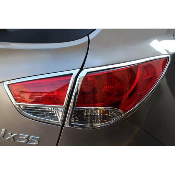 Хром накладки на задние фары Hyundai ix35 2009-13