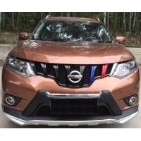 3 колор решетка радиатора Nissan X-Trail T32 2014-18 тюнинговая