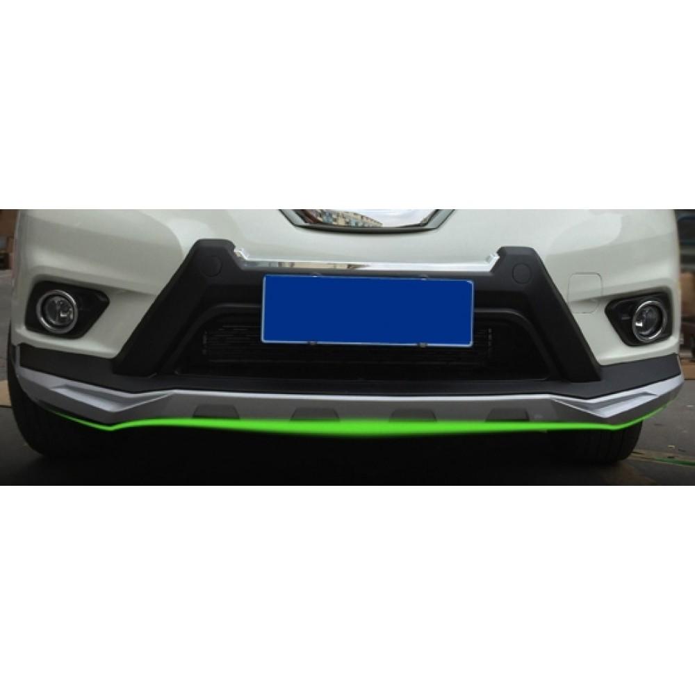 Накладки заднего и переднего бампера Nissan X-Trail T32 (2014-18) тюнинговые